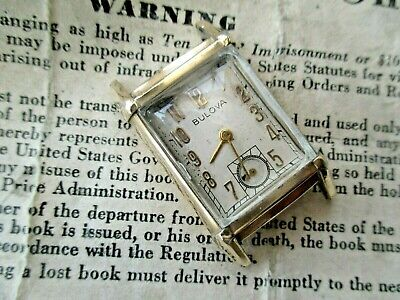 Lovely Bulova Director Gents Vintage Watch.super Case&Lugs.for You To Fix.1941.