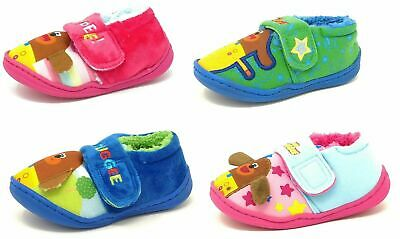 Kids/Childrens Hey Duggee Pink Blue Slippers Booties Girls Boys Mules Size 5-10