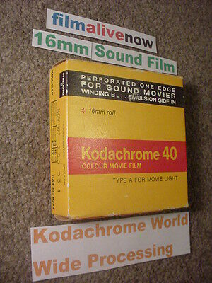 Kodachrome Lives,Processed all over the World,NEW but old Movie Camera Film 16mm