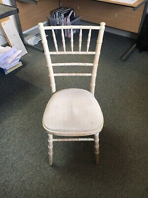 Limewash Chiavari Chairs with Ivory Seat Pad, Limewash wedding chairs