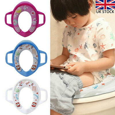 Kids Toilet Seat Soft Potty Training Seat Mini WC Soft Padded Baby Toddler Child