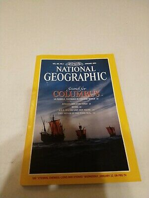 National Geographic Magazine - January 1992 Vol 181 No 1  Search For Columbus