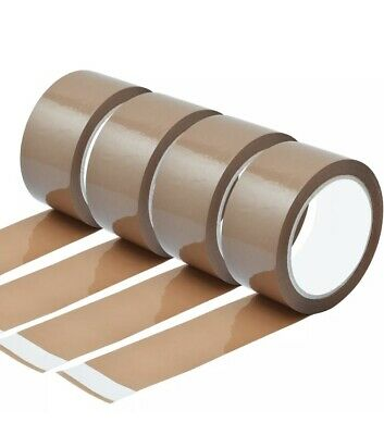 Strong Brown Parcel Packing Tape SelloTape Carton Sealing Box 48mm x 66 mm