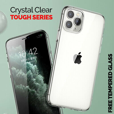 CLEAR Case For iPhone 11 Pro Max XR X XS Max Cover Silicone Shockproof TOUGH