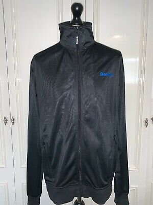 Bench Men's Black Tracksuit Trackie Jacket Zip Top XL VGC