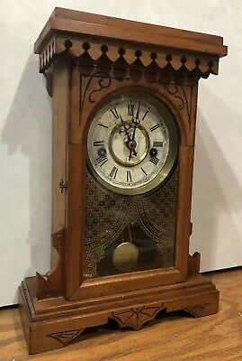 Waterbury Kitchen Cottage Parlor Gingerbread Shelf Mantel Clock