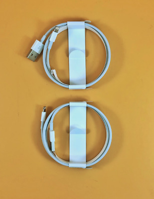 OEM Apple iPhone Lightning Cable 1m 3ft Charging Cord Authentic - Pack of 2