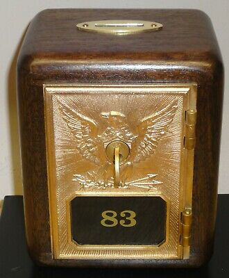 Walnut Post Office Box Door Bank-1892/1895 Yale Eagle