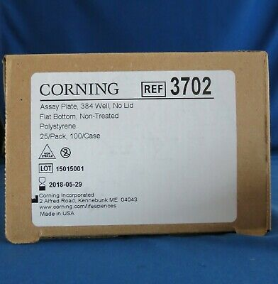 Pack 25 Corning Costar 384 Well Clear Assay Plates # 3702