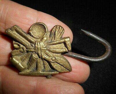 Metal Forgeron Bronze Bronzier Plombier Crochet Tablier Art Populaire Ancien
