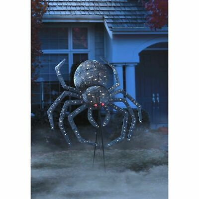 Halloween Animated 6 Ft. Pop-Up Spider Member's Mark Holiday Prop 238 LED Lights