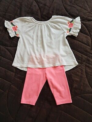 Girls Next Cropped Leggings And Top Outfit 2-3 Years