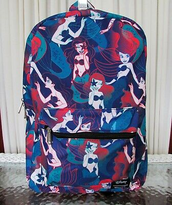 Disney Loungefly Ariel The Little Mermaid Backpack School Bag Travel NWT