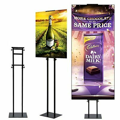 Heavy Duty Pedestal Sign Poster Holder Double Stand with Base Adjustable Height