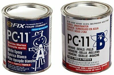 4lbs Dry-Wet PC-11 Epoxy Adhesive Paste Bonds - Two-Part Marine Grade (2 Cans)