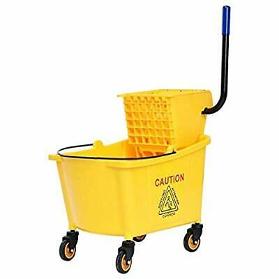 Commercial Grade Side Press Wringer Mop Bucket with 35 Quart Capacity