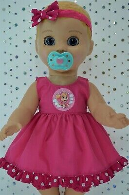 """Play n Wear Dolls Clothes For 17""""Luvabella Doll HOT PINK DRESS~BLOOMERS~HEADBAND"""