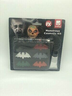 Monstrous Cosmetic Make Up Face Painting Kits Halloween Bat Smiffys