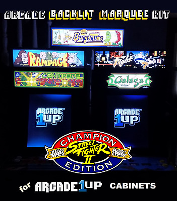 Arcade1up Street Fighter II Backlit Marquee Kit for Arcade1up Cabinets - Red