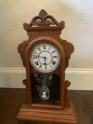 Circa 1900 Waterbury Hamilton Kitchen Gingerbread Clock