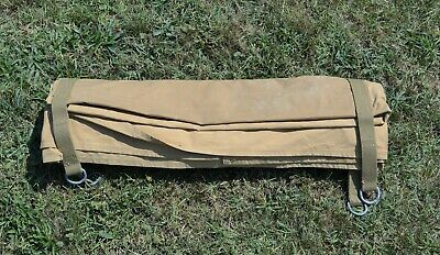 WWII USMC Marine Corps Officer's Bed Roll Depo Made 1944 Strong Stamping WW2