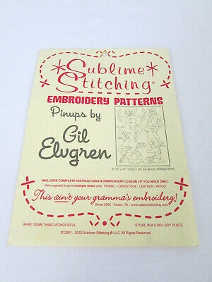 Sublime Stitching Pinups by Gil Elvgren Embroidery Patterns Rockabilly Pin Ups