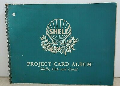 vintage 1960s SHELL Project Card Album SHELLS, FISH and CORAL 27 Single cards