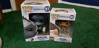 Tracer And Winston Funko Pop Figure Pop Toy Collectible Overwatch Lot Of 2