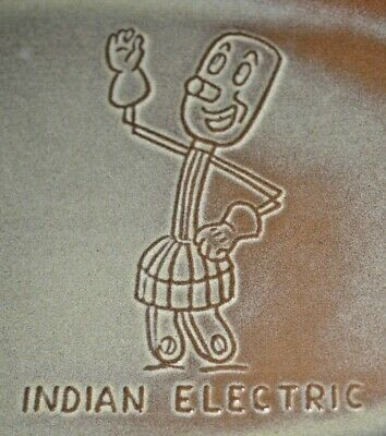 1950-60's Willie Wirehand Indian Electric Co-op ~ Frankoma GP Plate ~ Rare Find