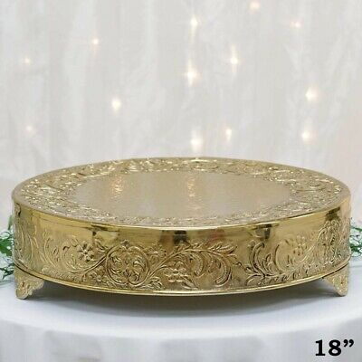 Wedding Cake Stands Plates Grand, Silver Round Cake Plateau