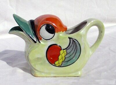 Vintage Porcelain Lusterware Creamer Duck Bird Made in Japan RARE Colors