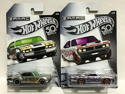 2018 Hot Wheels 50th Anniversary ZAMAC Flames Series Lot of 8