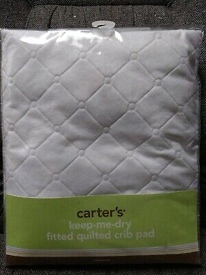 Carter's Keep Me Dry Waterproof Fitted Quilted Crib Pad, White  #C3FQPD