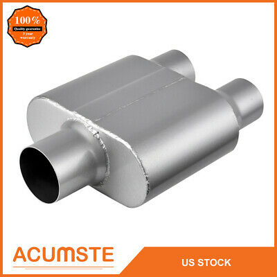 """MagnaFlow Muffler Dual 2.50/"""" Inlet//Dual 2.50/"""" Outlet Stainless Steel Natural Ea"""