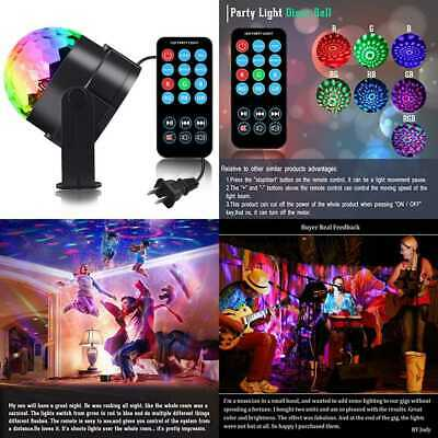 Sound Activated Party Light Disco Ball Remote Control 7 Modes Best Dj Dance Lamp