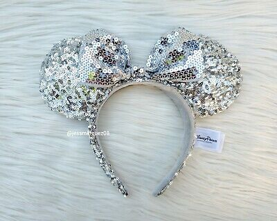 Disney Parks Silver Minnie Mouse Ears