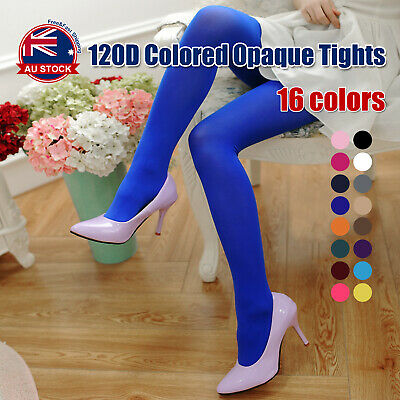 120D Colored Opaque Tights Pantyhose Stockings Hosiery Ballet Dance O