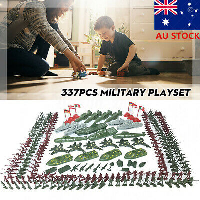 337pcs Military Playset Plastic Kid Toy Soldier Army Men 4cm Figures Accessories