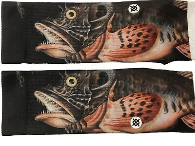 Stance Bass Fishing Taylor Creek Athletic Men's Crew Socks Large 9-12