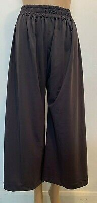 Ex- Zara Brand Cropped Wide Leg Trouser for Girls | Ladies | Womens  - Size L.