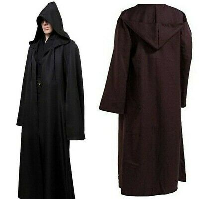 Halloween Unisex Fancy Party Costume Hooded Robe Cloak Cape Witch Clothes AU