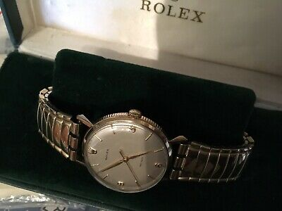 Rolex 9ct Gold Coin Edge,VERY RARE BOX & PAPERS