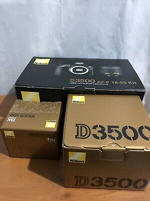 NIKON D3500 DSLR Camera with AF-P DX NIKKOR 18-55 mm f/3.5-5.6G Lens - UK Stock