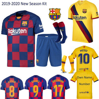 19//20 Soccer Football Full Kit Kids Youth Strips Team Sport Training Suit Outfit