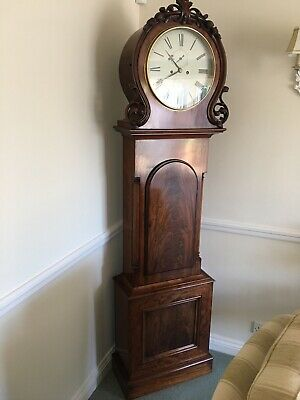 Beautiful Antique English Regency 8 Day Mahogany Grandfather Longcase Clock