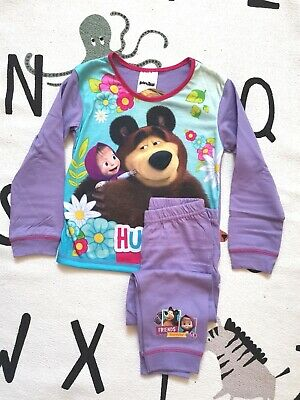 Girls Toddler Official Masha And The Bear Pyjamas