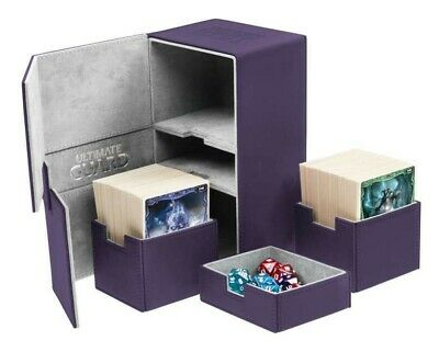 Ultimate Guard - Twin Flip'n'Tray XenoSkin Deck Case 200+ Violet - Gaming Box