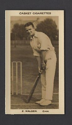 Pattreiouex (Early) - Famous Cricketers (Plain) - #C44 F Walden