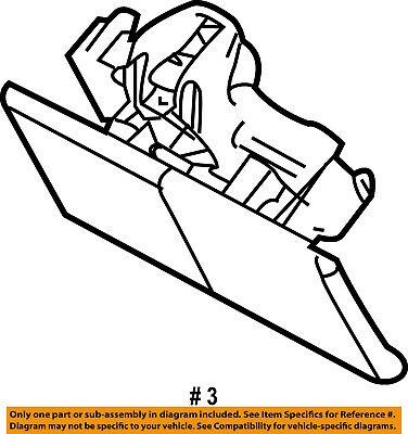 FORD OEM Glove Compartment Box-Latch Handle 6W3Z5406072AC