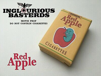 Red Apple INGLOURIOUS BASTERDS Cigarette pack TARANTINO Pulp Fiction WWII US
